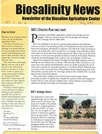 Biosalinity News. 2000. Vol.1. No.2