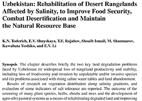 Rehabilitation of Desert Rangelands Affected by Salinity, to Improve Food Security, Combat Desertication and Maintain the Natural Resource Base