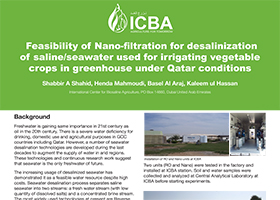 Feasibility of Nano-filtration for desalinization of saline/seawater used for irrigating vegetable crops in greenhouse under Qatar conditions