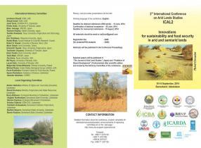 2nd International Conference on Arid Land Studies