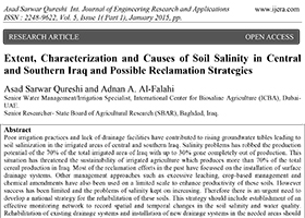 Extent, Characterization and Causes of Soil Salinity in Central and Southern Iraq and Possible Reclamation Strategies