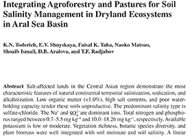 Integrating Agroforestry and Pastures for Soil Salinity Management in Dryland Ecosystems in Aral Sea Basin