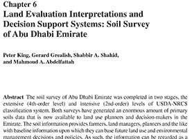 Land evaluation interpretations and decision support systems: Soil Survey of Abu Dhabi Emirate