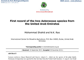First record of the two Asteraceae species from the United Arab Emirates