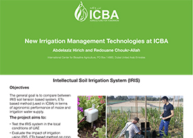 New Irrigation Management Technologies at ICBA