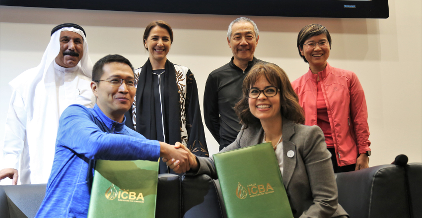 The partnership between ICBA and BGI was formalized through an agreement of intent to collaborate on establishing the genomics center in the United Arab Emirates.