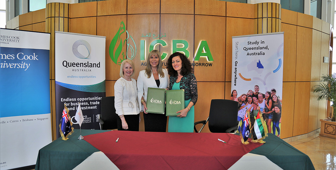 ICBA and JCU signed a memorandum of understanding (MoU) to the effect at the centre's head office in Dubai, UAE, on 9 July 2019 in the presence of senior officials from the UAE Office of Food Security.