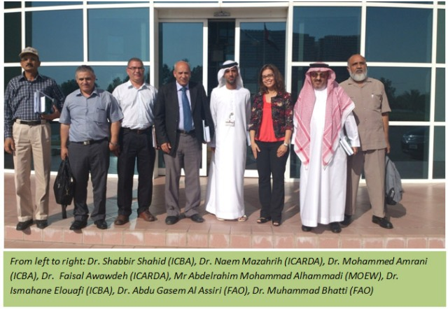 ICBA FAO ICARDA collaboration on projects for the UAE