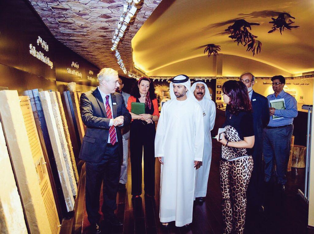 UAE Energy Minister visits International Center for Biosaline Agriculture