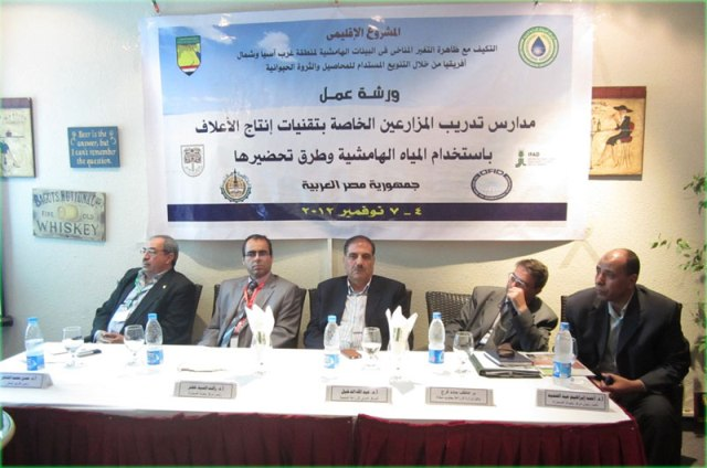 "ICBA conducts training workshop in Egypt ""Farmer Schools for Forage Production and Utilization Techniques under the use of Marginal Water Resources"""