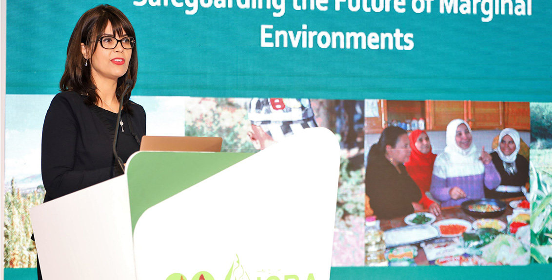 """In her opening address, Dr. Ismahane Elouafi, Director General of ICBA, said: """"As a global center of excellence focused on salinity and water scarcity issues in the marginal environments for about 20 years now, ICBA is committed tosafeguarding the future of marginal environments, where about 70 percent of the people live in extreme poverty. These areas, where an estimated 1.7 billion people live, are most vulnerable to vagaries of climate change and face issues, including salinity and water scarcity."""""""