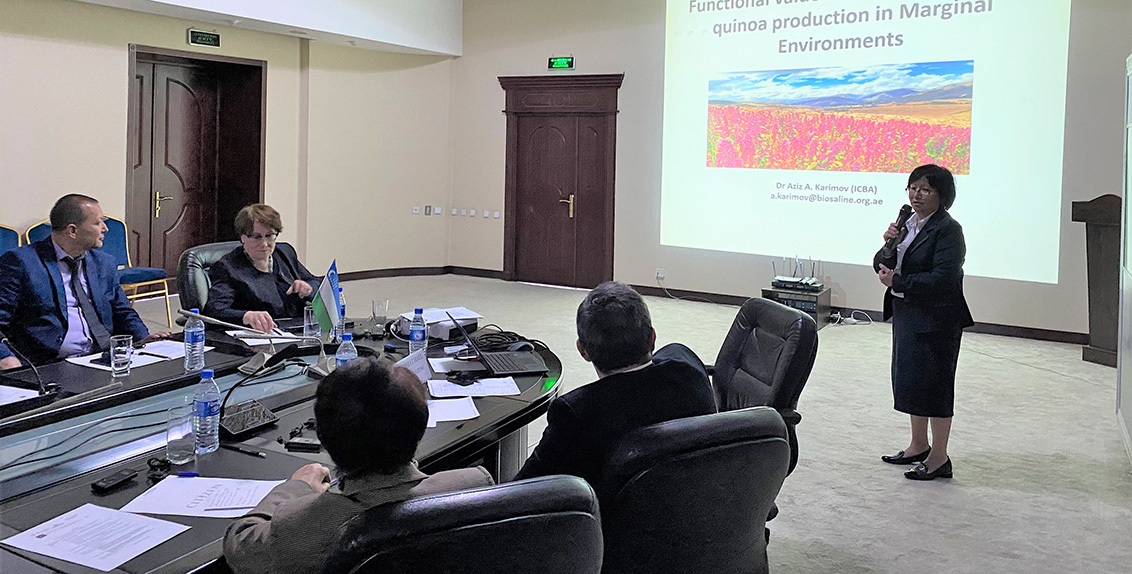 """The three-day event was arranged as part of the project titled """"Use of non-conventional agricultural water resources to strengthen water and food security in transboundary watersheds of the Amu Darya river basin (UNCAWR)""""."""
