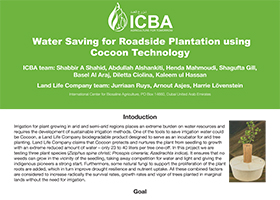 Water Saving for Roadside Plantation using Cocoon Technology