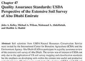 Quality assurance standards: USDA perspectives of the extensive soil survey of Abu Dhabai Emirate