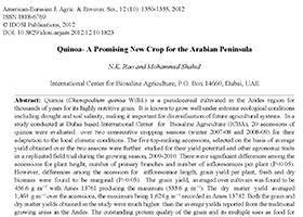Quinoa – A promising new crop for the Arabian Peninsula