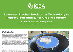 Low-cost Biochar Production Technology to Improve Soil Quality for Crop Production