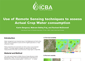 Use of Remote Sensing techniques to assess Actual Crop Water consumption