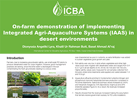 On-farm demonstration of implementing Integrated Agri-Aquaculture Systems (IAAS) in desert environments