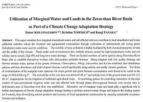 Utilization of Marginal Water and Lands in the Zeravshan River Basin as Part of a Climate Change Adaptation Strategy