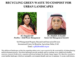 Recycling green waste to compost for urban landscapes