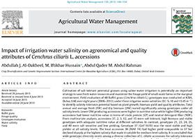 Impact of irrigation water salinity on agronomical and quality attributes of Cenchrus ciliaris L. accessions