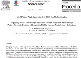 Impacting policy: harnessing science on climate change and water through partnerships with decision-makers in the Middle East and North Africa - Reflections
