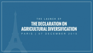 Scientists, leaders sign declaration on agricultural diversification at Paris climate change talks