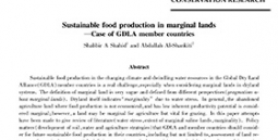 Sustainable food production in marginal lands-Case of GDLA member countries