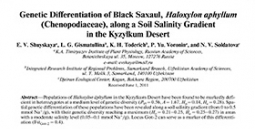 Genetic differentiation of Black Saxaul,Haloxylon aphyllum (Chenopodiaceae), along a soil salinity gradient in the Kyzylkum Desert