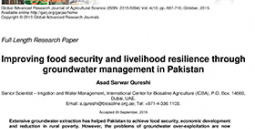 Improving food security and livelihood resilience through groundwater management in Pakistan