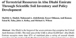 Innovative Thinking for Sustainable Use of Terrestrial Resources in Abu Dhabi Emirate Through Scientic Soil Inventory and Policy Development