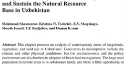 Participatory management of desert rangelands to improve food security and sustain the natural resource base in Uzbekistan