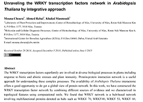 Unraveling the WRKY transcription factors network in Arabidopsis Thaliana by integrative approach